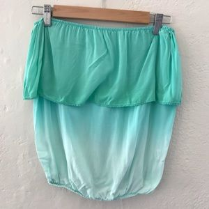 Turquoise/teal crop top/ sleeveless